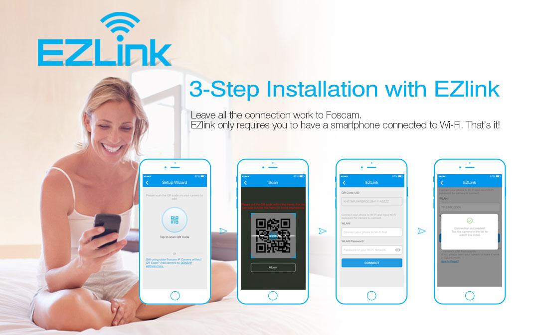 Foscam EZLink 3 Step Setup